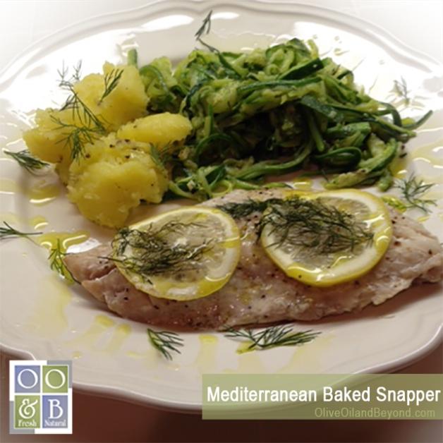 Mediterranean Baked Snapper recipe