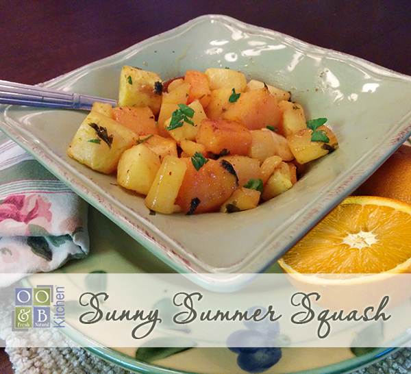 Sunny Summer butternut squash recipe with orange lime glaze