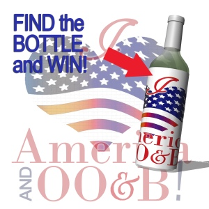 July 4th  game find the promo hidden bottle  of 'I love OO&B' vinegar, follow instruction to enter.