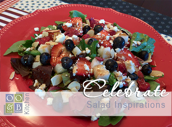 Sweet Liberty Salad - Red white and blueberry salad