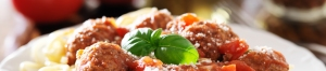 Wolfgang Puck recipe for spaghetti and meatballs with basil and galic