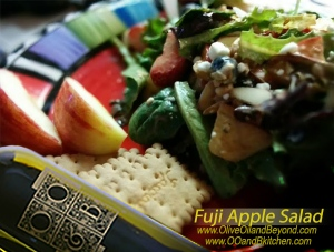Fuji apple salad with Panera style dressing